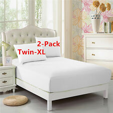 """2-Pack Twin-XL Fitted Sheet, For Split King & Dorm Bed 39""""*80"""", Extra Long Twin"""