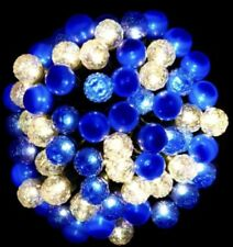 NEW CHRISTMAS WORLD 70 PACK LED BERRY BLUE & WARM LIGHT BATTERIES POWER