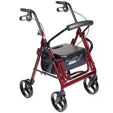 Transport Wheel Chair Rollator Folding Combo Medical Adult Walker Portable Chair