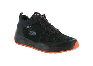 Skechers Equalizer 4.0 Trail Krylos Men Black Orange Knit Mesh Shoes Memory Foam