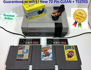 NINTENDO NES Console REFURBISHED System Bundle Games Lot Super Mario 1 2 3