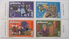 Zwitserland - Veldeel van 4 Philswiss club zegels (3)