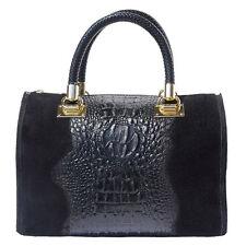 Handbag Bag Italian Genuine Leather Hand made in Italy Florence 7002 bk