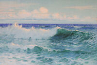 """perfact 36x24 oil painting handpainted on canvas """"sea wave """"@N4092"""