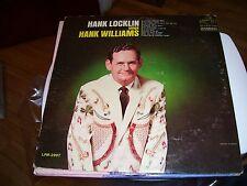 HANK LOCKLIN SINGS HANK WILLIAMS-LP-VG-RCA VICTOR DYNAGROOVE MONO BLACK LABEL