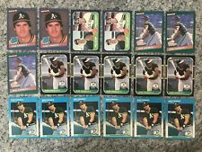 Jose Canseco 18 Card Lot Includes Rookies Fleer Topps Donruss Mint