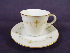 Noritake Courtney Pattern Cup and Saucer Value Priced EUC