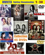 Invicta FC  1 - 30. Women's Mixed Martial Arts DVD collection. 45 DVDs Very Rare