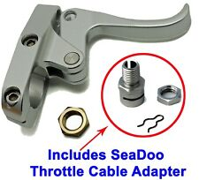 Seadoo Finger Throttle Lever CNC Billet Silver & Sea-Doo Cable Adapter