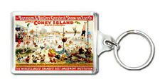 THE GREAT CONEY ISLAND WATER CARNIVAL MOD1 VINTAGE KEYRING LLAVERO