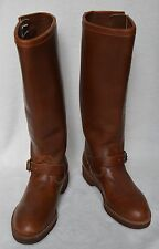 CHIPPEWA Men's Boots Vintage TAN Size 8M Engineer Motorcycle Snake Boots USA EUC