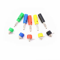 5pc 4mm banana plug superposition continuous activities scaling sheath connector
