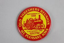 1998 Swap Midwest Old Threshers Reunion Mt Pleasant Iowa Pinback Button Settlers