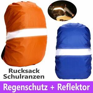 Regenschutz Schulranzen Rucksack 35L Schutzhülle Reflektor Regenhülle Überzug