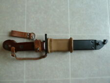 Hungarian 6X3 type 1 Bayonet w Scabbard Hanger Hand Strap excellent