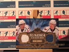 2008-09 Artifacts Tundra Tandems Gold #TTSO Semin/Alexander Ovechkin SN 02/25