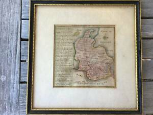 Antique Country Map of Hertfordshire. 1742 by Badeslade and Toms
