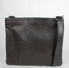 2eea1266c8c New Gucci Dark Brown Hilary Lux Diamante Leather Messenger Bag 201446 2044