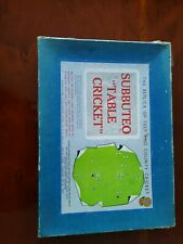 More details for original subbuteo table cricket set. believed 'first edition?'
