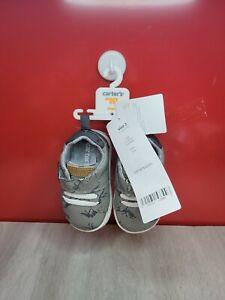 Carter's Infant 1st Walker Park Fashion Sneaker; 2 (3-6 Mon.), Grey Dinosaur