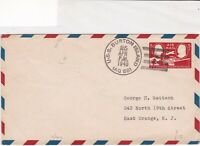 united states 1948 U.S.S.Burton isl. cancel post centenary stamps cover ref21429