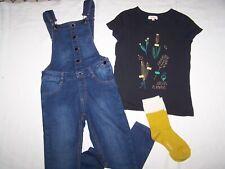 collection récente ensemble salopette tee shirt chaussette CATIMINI taille 8 ans