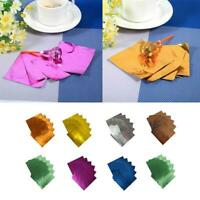 100PC Square Candy Chocolate Lolly Aluminum Foil Paper Wrappers 8*8cm AU FAST