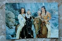 Kino Postkarte AK UNTER GEIERN 1964 Winnetou Pierre Brice Georg Mitic Karl May