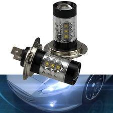 2x 80W Super Hell H7 LED Lens Weiß DRL Nebelscheinwerfer Birne Auto Licht Lampe