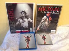 MICHAEL JACKSON LOT BLU-RAY THIS IS IT, 2 TRIBUTE BOOKS & CD PHOTO COLLECTION
