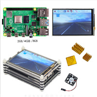 Raspberry pi 4 model B (2/4/8GB RAM) kit with 3.5 inch LCD dispaly Acrylic case