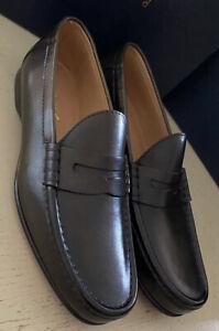 New $995 Men Ralph Lauren Purple Label Leathe Loafers Shoes Black 9.5 US Italy