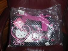 """3 pc Hello Kitty Sanrio 16"""" Overnight Slumber Bag Fleece Blanket Duffle Mask Nwt"""