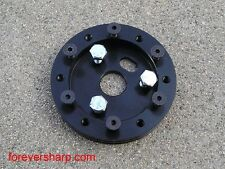 "0.5"" aluminum hub for 6 hole steering wheel to grant 3 hole boss kit in black (("