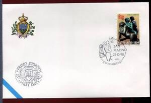 """32784) SAN MARINO 1998 FDC """"Uff. San Marino"""" Sculture E."""