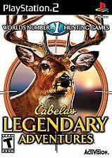 Cabela's Legendary Adventures PS2 - Acceptable Pre-Owned sticker on back of case