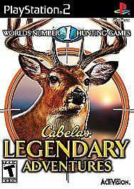 Cabela's Legendary Adventures (Sony PlayStation 2, 2008) PS2 Tested
