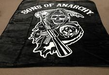New Licensed Queen Size Sons Of Anarchy SOA Sam Crow Mink Plush Blanket(Heavy)