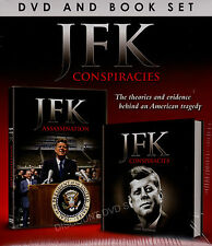 The JFK Conspiracies DVD & BOOK SET.....NEW CELLOPHANE WRAPPED ITEM