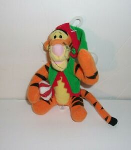 """Applause Winnie the Pooh TIGGER Plush Christmas Red Green Elf Candy Cane 5"""""""