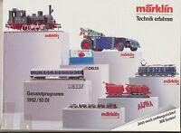 Märklin HO Technik erfahren Model Train Catalog Gesamtprogramm 1992/93