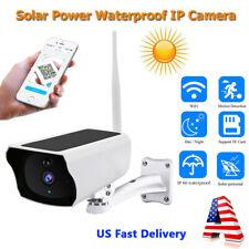 Outdoor Solar Power Ip Camera Wireless Wifi 1080P Hd NightVison Surveillance Cam