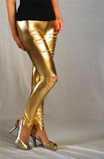 KTOO Laser Slashed Gold Metallic Leggings