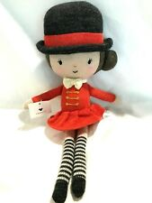 Nwt Anthropologie Lauvely Circus Ring Leader Horse Rider Girl Plush Knitted Doll