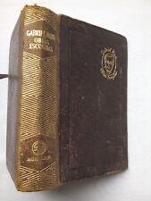 GABRIEL MIRO.OBRAS ESCOGIDAS.NOTA MARIO ALFARO,ANTIQUE LEATHER 1955,RARE SPANISH