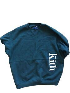 Kith Men's Sweatshirt Jumper Green Medium Rare Fleece Stussy Supreme
