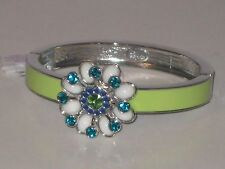 Lots Of Sparkle -Rv $88 Lovely Flower Lia Sophia Full Bloom Bracelet Sz Medium -