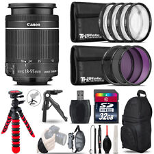 Canon 18-55mm IS STM + MACRO, UV-CPL-FLD Filter + Monopad - 32GB Accessory Kit