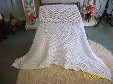 "BEAUTIFUL HAND-KNITTED BABY SHAWL.3-PLY SOFT BABY WOOL.53""X 39"" Approx. NEW...#3"