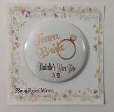 Pocket  Mirror Personalised Bag Makeup  Party Filler Wedding Favour Hen